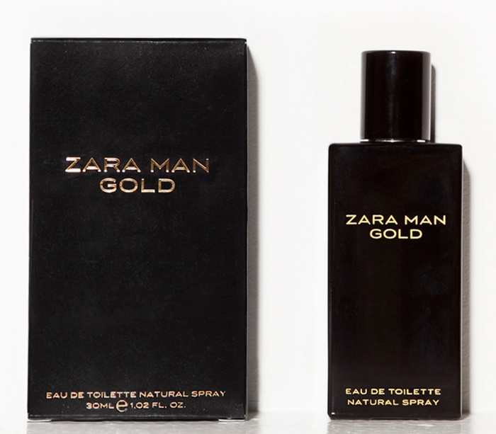 Zara Man Gold. A very sweet fragrance this one is, but very alluring I think. Very creamy and rich but not cloying in the least, a good alternative to Rabanne's 1 million or Viktor & Rolf's Spicebomb, if those are too intense for you. notes are, lemon, cinnamon, praline, ebony tree, and amber.