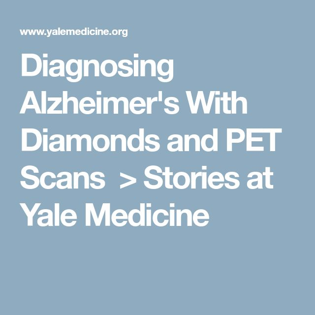 Diagnosing Alzheimer's With Diamonds and PET Scans > Stories at Yale Medicine