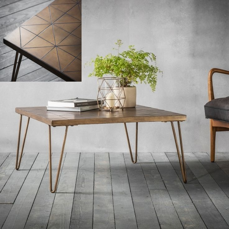 Cult Living Bronx Contemporary Geometric Tiled Coffee Table, Gold