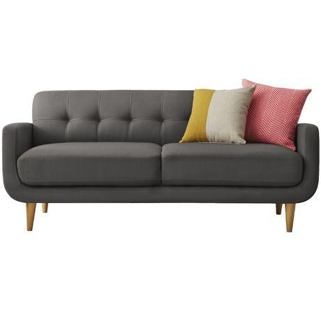 Wilmont 3 Seat Sofa Sachi Charcoal