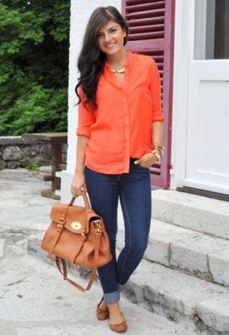 этих функций с чем одеть оранжевую блузку фото ?лы название