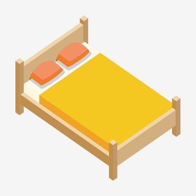 25d أثاث سرير خشبي أصفر سرير السرير سرير مزدوج Png والمتجهات للتحميل مجانا