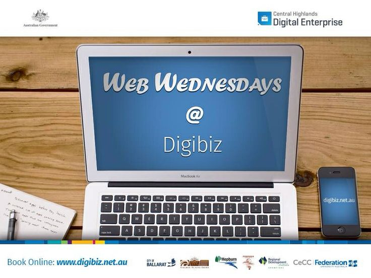 Web Wednesdays are on the way - http://www.digibiz.net.au/cb_pages/workshops-events.php