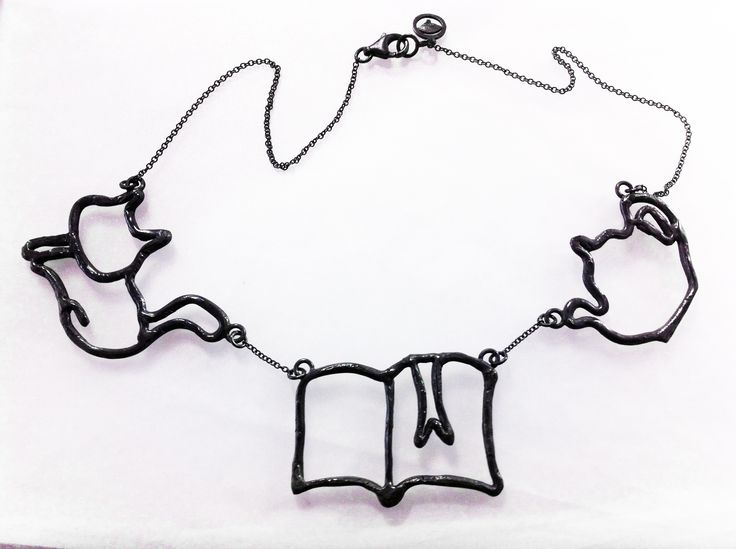 """""""AdHoc - TheDailyObjects"""", 2014  Collana, argento 925, patina. Necklace, silver 925, patina."""