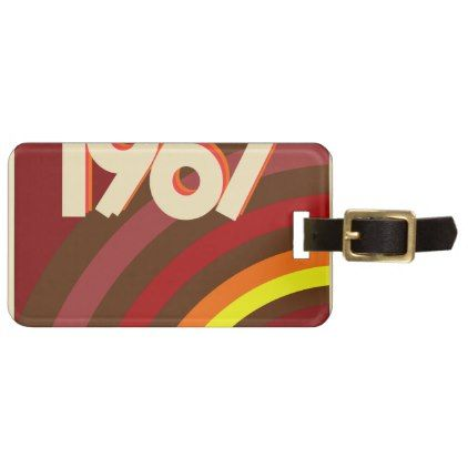 #1967 VINTAGE LUGGAGE TAG - #travel #accessories