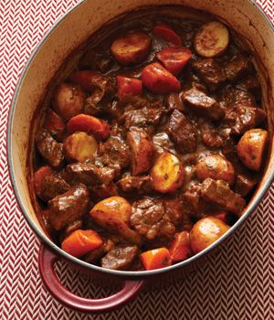We're having this for dinner tonight. I modified it, though, and threw everything in the slow cooker. It smells amazing.