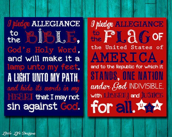 words to the pledge of allegiance to the american flag