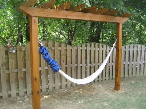 Hammock stand...What an awesome idea especially if you don't have - Best 25+ Hammock Ideas Ideas On Pinterest Wooden Hammock Stand