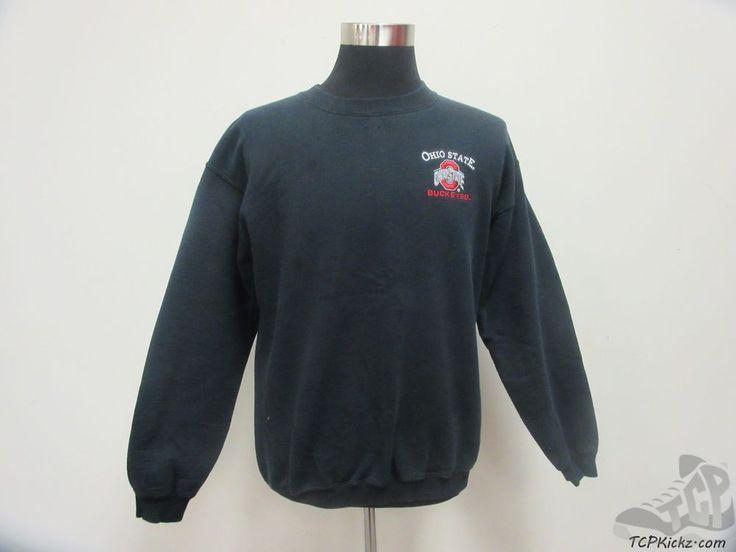 Gildan Ohio State Buckeyes Crewneck Sweatshirt sz M Medium SEWN OSU University #Gildan #OhioStateBuckeyes  #tcpkickz