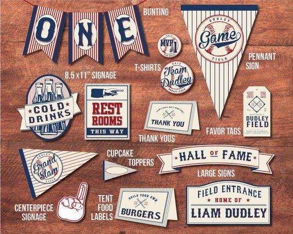 Bonfires and Wine: Vintage Baseball Baby Shower