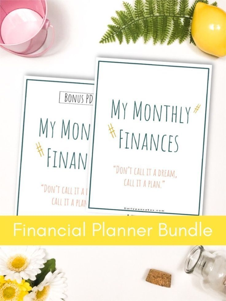 Monthly Financial Planner Bundle