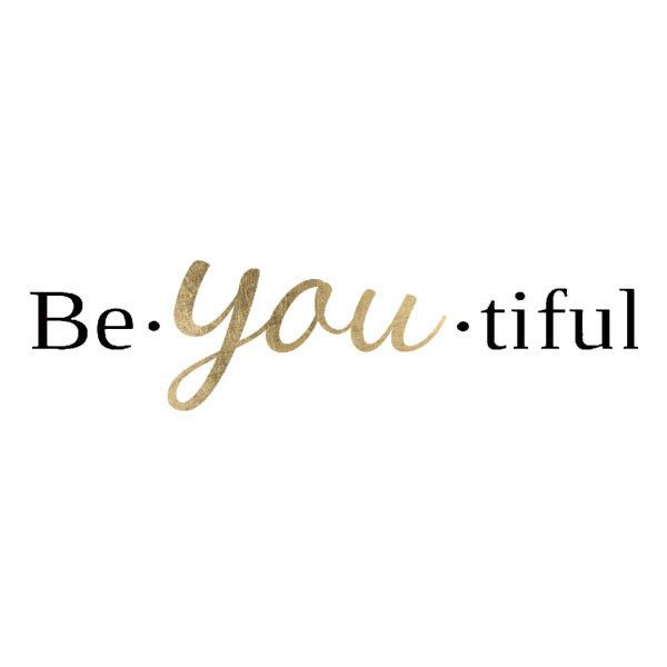 """Be charming, be unique, be YOU! This is a black and gold design in the word """"Be-YOU-tiful"""". Wear this lovely tattoo and be your beautiful self! Sheet Size: .5"""" x 2"""" - Lasts 5-7 days even with swimming"""