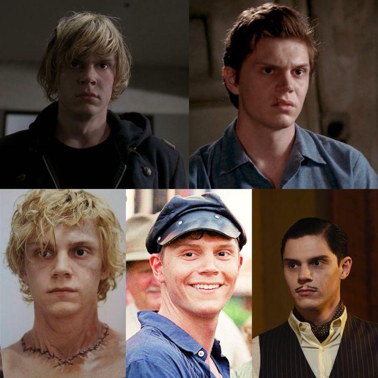 Evan Peters - American Horror Story 1. Tate Langdon 2. Kit Walker 3. Kyle Spencer 4. Jimmy Darling 5. James Patrick March 6.?
