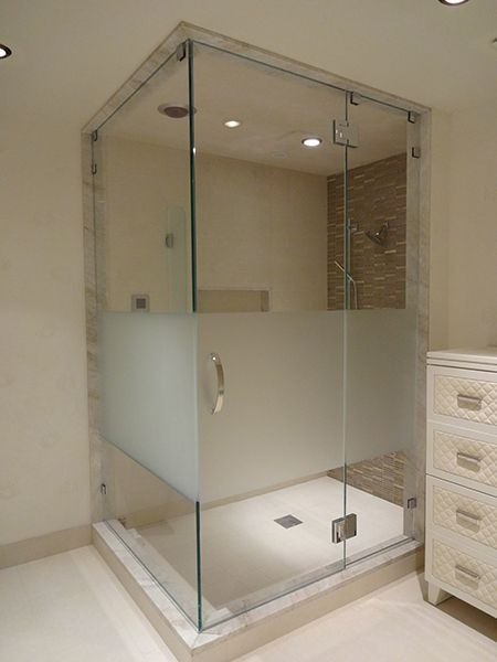 59 best glass shower door examples images on pinterest glass showers bathroom and bathrooms. Black Bedroom Furniture Sets. Home Design Ideas