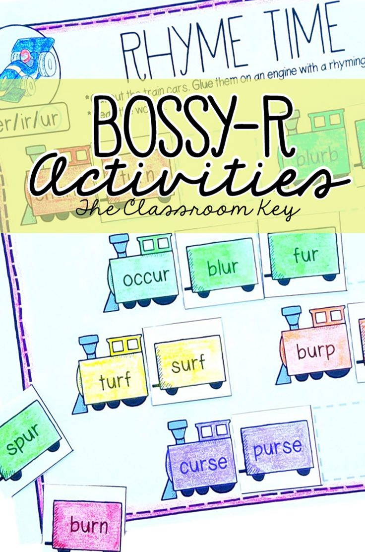 R Controlled Vowels (Bossy R) Activities, 1st or 2nd Grade