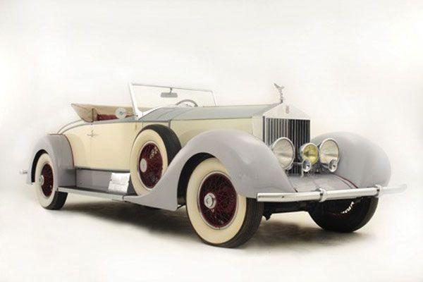 1927 Rolls-Royce Phantom I Playboy Roadster owned variously by Tom Mix, Bette Davis & Warner Brothers Studios