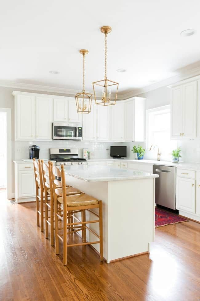 Our White And Gold Kitchen Makeover Beautiful Home Interiors