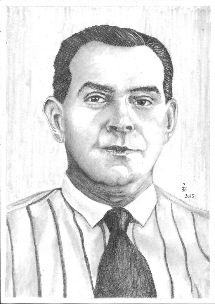 Pencil drawing portrait Kabos Gyula by Erika Székesvári https://www.facebook.com/ercziart/