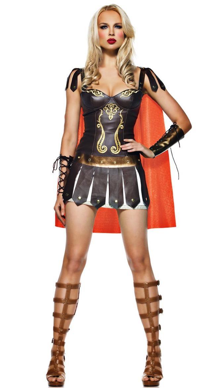 warrior princess costume sexy roman soldier costume sexy roman gladiator costume halloween maybe - Soldier Girl Halloween Costume