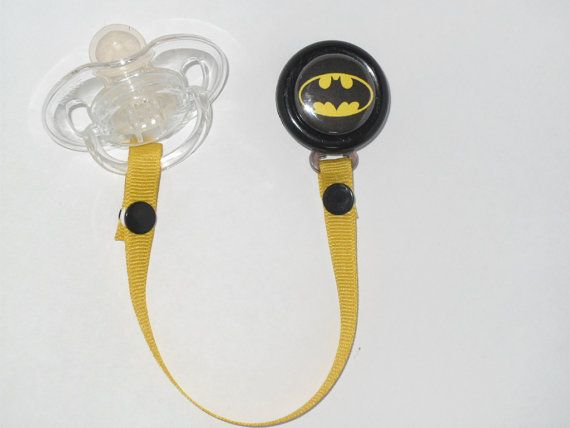 Hey, I found this really awesome Etsy listing at http://www.etsy.com/listing/108259984/batman-pacifier-clip