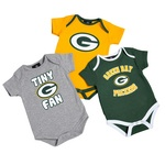 Green Bay Packers Boys 3 Piece Creeper Set