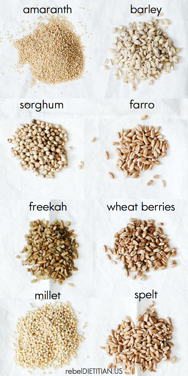 Ancient Grains 101: Quinoa, Amarinth, Millet, Teff, Chia and Sorghum are Gluten free. Farro, Barley, Freekah, Wheat Berries, and Spelt are not Gluten Free.