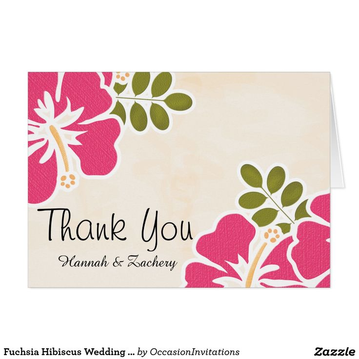 create your own card  zazzle  hibiscus wedding