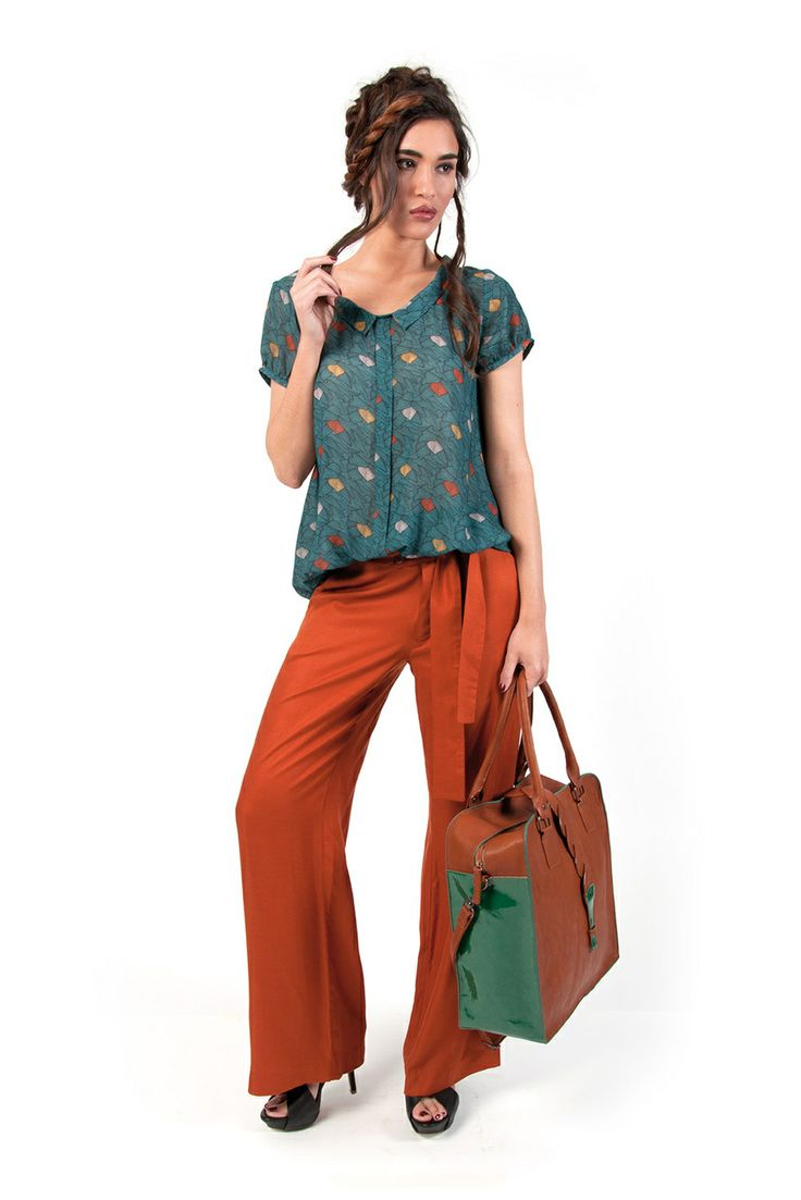 Skunkfunk USA: THERESE-034 Spring Summer 14 WOMEN'S SHIRT, Fabric Content: 100% polyester, Sustainable Fashion, Eco-Friendly Clothing, Fair ...