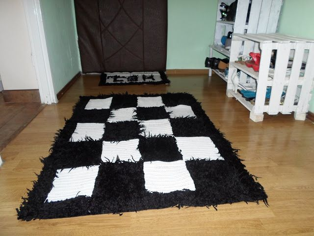 Create Your World: Czarny&Biały sierściuch - dywanik i wycieraczka, s...