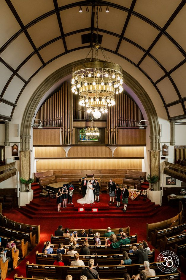 The38Photography, Calgary wedding photographer, First Baptist Church, downtown Calgary, couple, Wedding Ceremony