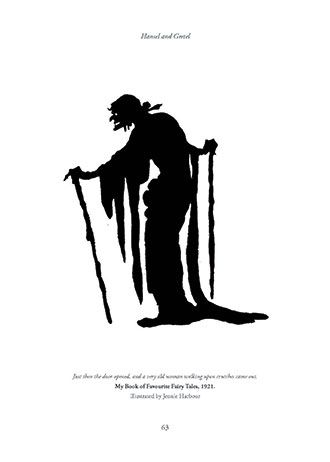 Spooky Witch Silhouette from Hansel and Gretel – And Other Siblings Forsaken in Forests (Origins of Fairy Tales from Around the World)