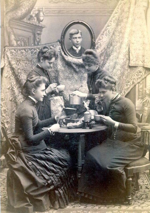 Ladies at tea ca. 1880s