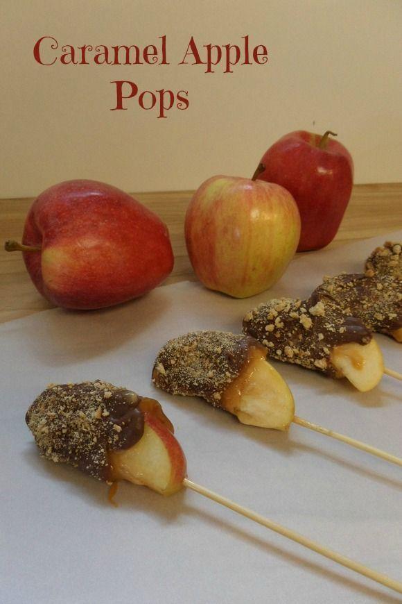 Fun Fall Recipe for Kids: Caramel Apple Pops   OurFamilyWorld.com
