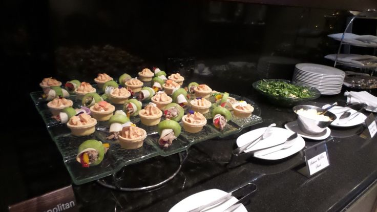Club Lounge Canapés at the Langham Auckland Hotel in New Zealand
