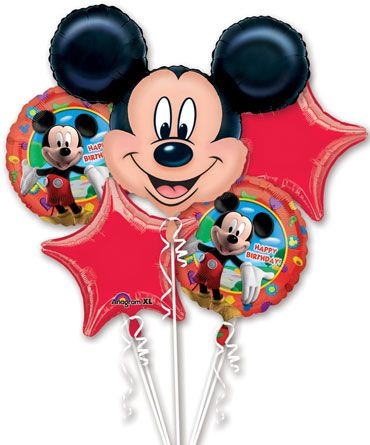 Mickey Mouse Birthday Balloon Bouquet