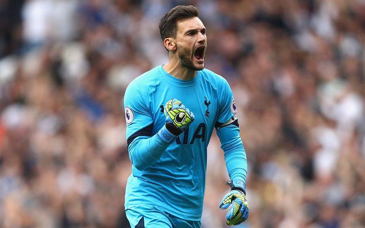 Download wallpapers Hugo Lloris, 4k, French goalkeeper, Tottenham Hotspur, Premier League, England, football