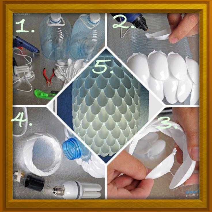 17 Best Ideas About Plastic Spoon Lamp On Pinterest