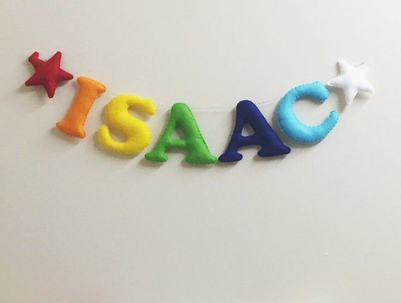 Personalised Rainbow Letter Bunting  Personalised Name Garland for Nursery of Playroom