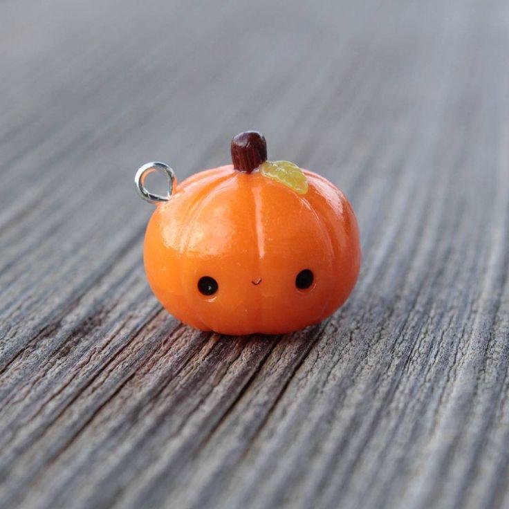 #kawaii #charms #polymer #clay #pumpkin