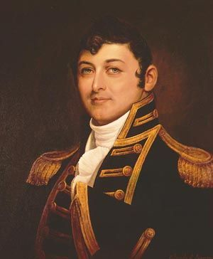Captain Isaac Hull, USN (1773-1843) Portrait by Orlando S. Lagman, after Gilbert Stuart. Courtesy of the U.S. Navy Art Collection, Washington, D.C. U.S. Naval Historical Center Photograph. Photo #: NH 48939-KN (color).