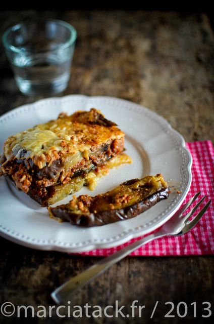 Moussaka légère et rapide sans béchamel (Light and fast moussaka without béchamel)