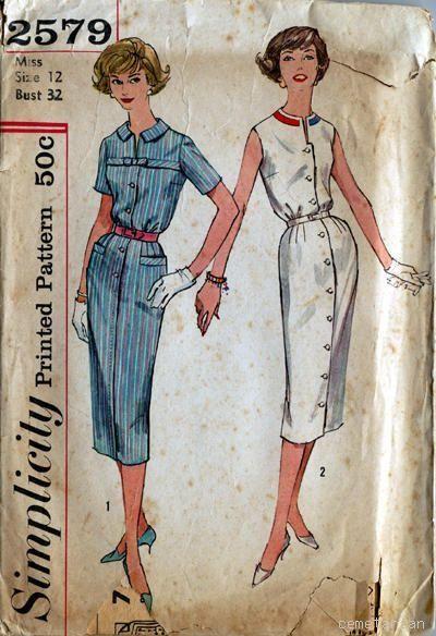 Платья и костюмы шестидесятых годов