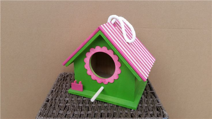 Solid bird cages, outdoor animals pigeon supplies house, colorful cute wood bird nest  #Affiliate