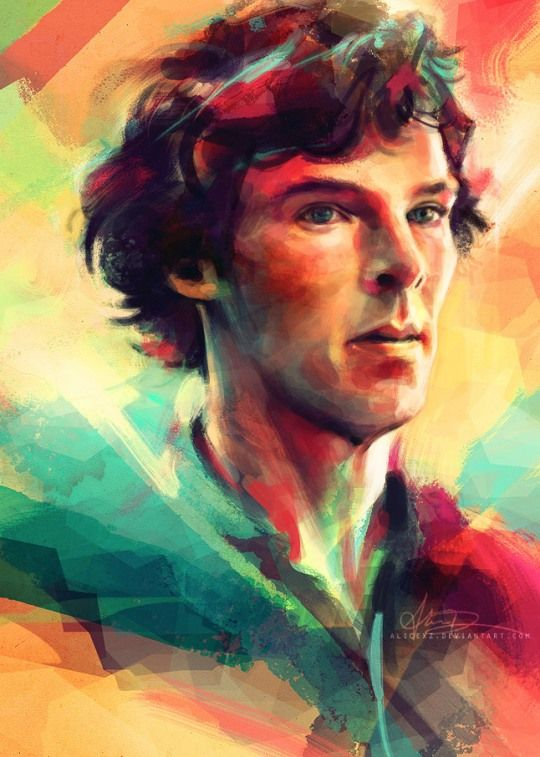 Gorgeous Sherlock fanart. I swear Sherlockians make some of the best fanart I've seen in my life.