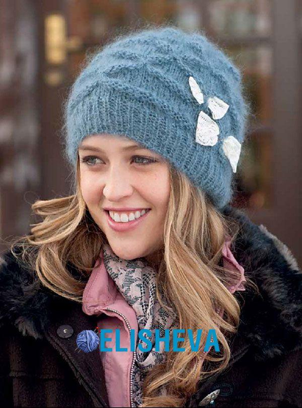 """Шапочка """"Ripple hat"""" (Текстурная) от Melissa Wehrle вязаная спицами"""