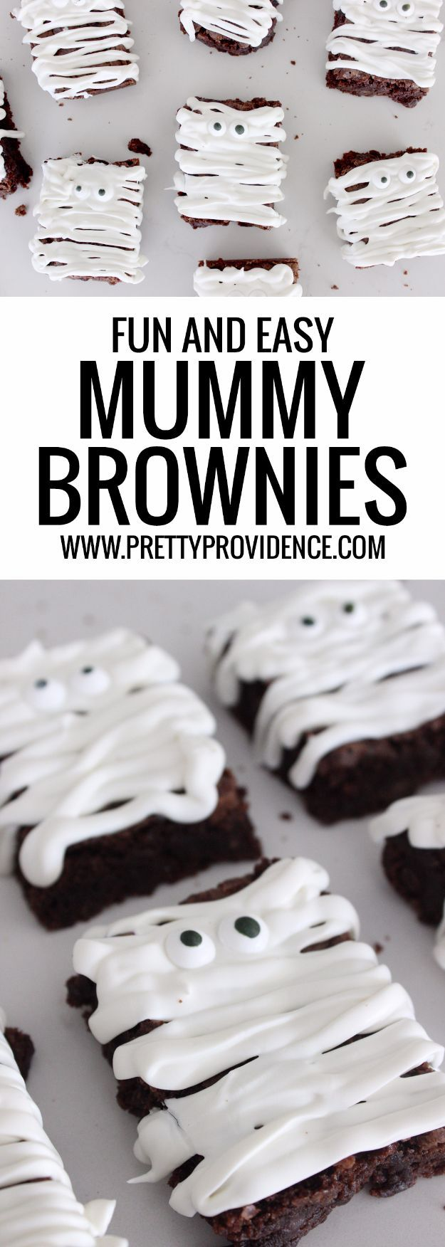 Best Halloween Party Snacks - Easy Mummy Brownies - Healthy Ideas for Kids for School, Teens and Adults - Easy and Quick Recipes and Idea for Dips, Chips, Spooky Cookies and Treats - Appetizers and Finger Foods Made With Vegetables, No Candy, Cheap Food, Scary DIY Party Foods With Step by Step Tutorials http://diyjoy.com/halloween-party-snacks