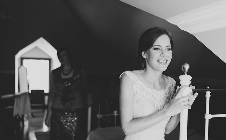 The gorgeous bride looking over the wedding ceremony from her room. Tweed Hinterland Wedding - Benjamin Carlyle Celebrant - Nat McComas. Tweed Wedding Celebrant. Byron Bay Wedding Celebrant