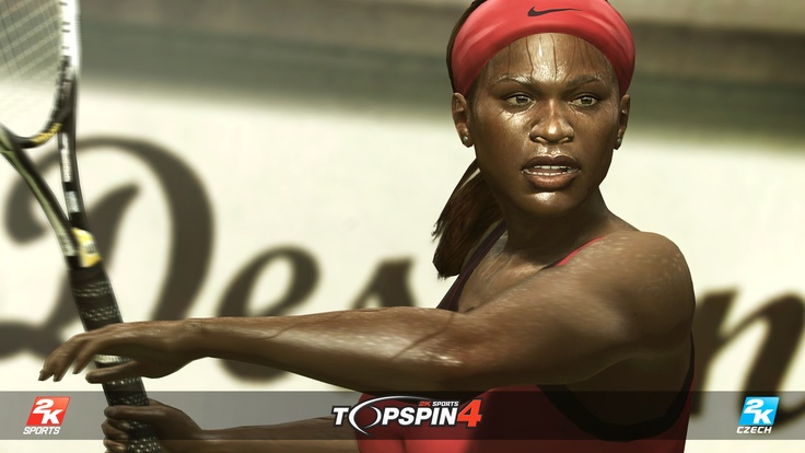 One of the Williams' sisters, Serena, in Top Spin 4.