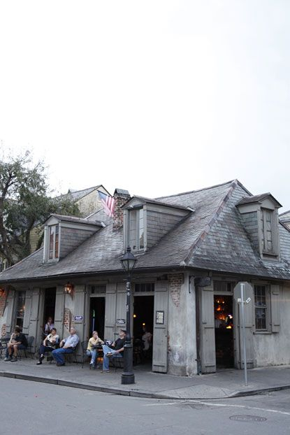 LAFITTE'S BLACKSMITH SHOP BAR, New Orleans, Louisiana.  The oldest bar in the country.  Best hurricane ever!