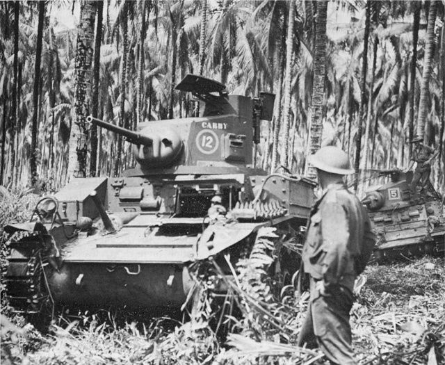 2/6th Australian Armoured Regiment M3 Stuart light tanks in New Guinea circa 1942/43